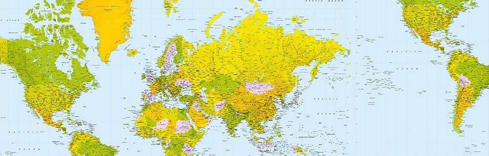 Carta da parati mondo planisferi paesaggi for Carta parati mondo
