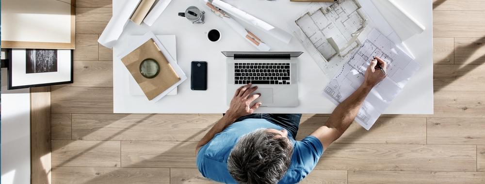 pavimento effetto parquet per ufficio