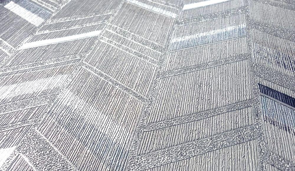 Carta da parati oro argento metallica for Carta da parati damascata argento