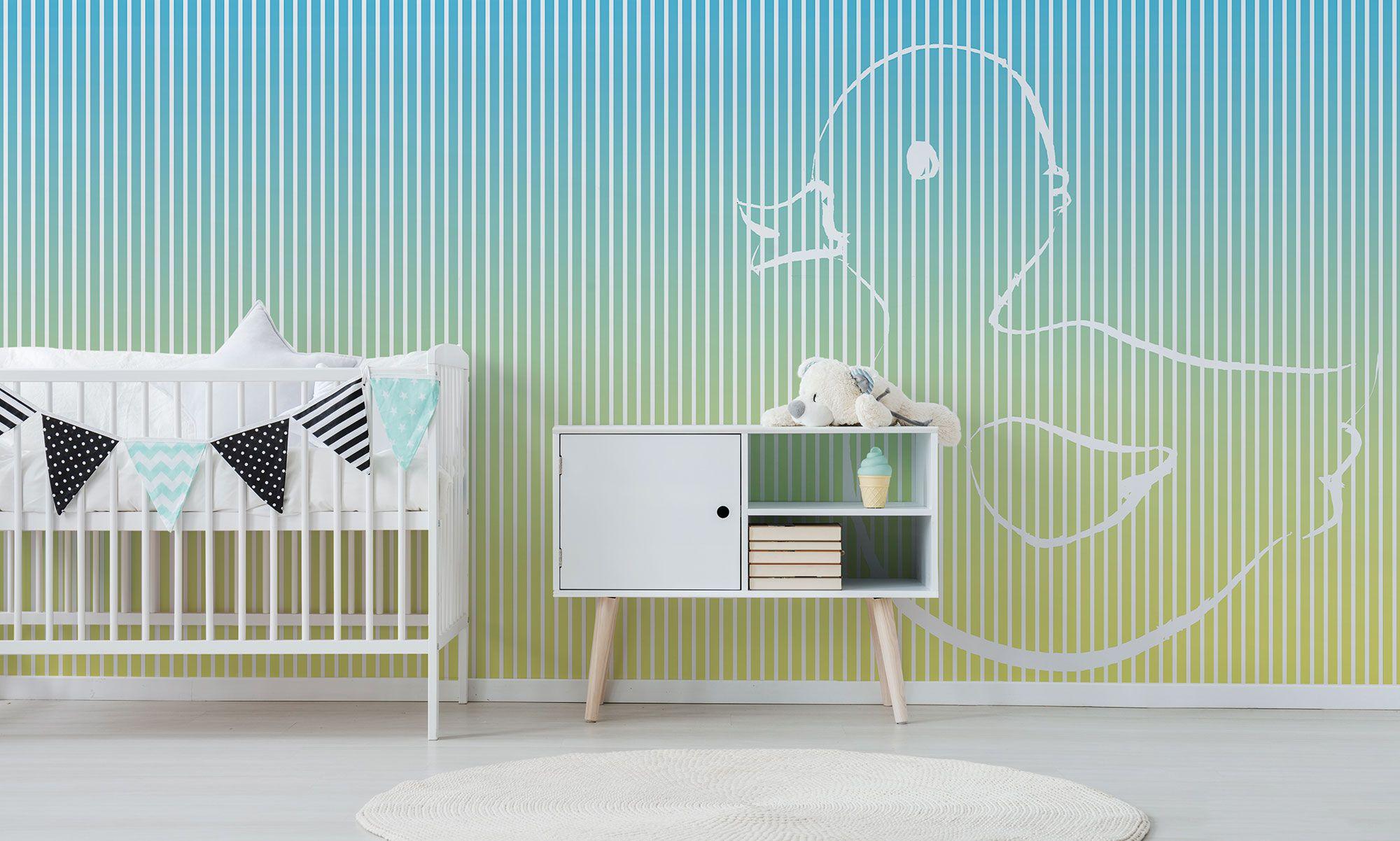 Pareti Pitturate A Fasce pareti colorate | per asili e spazi bimbi