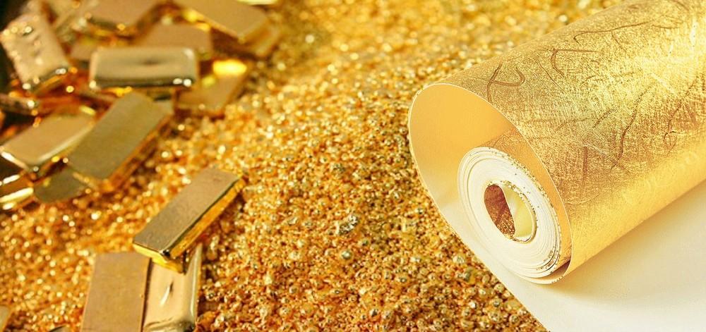 Carta da parati oro argento metallica for Carta da parati oro