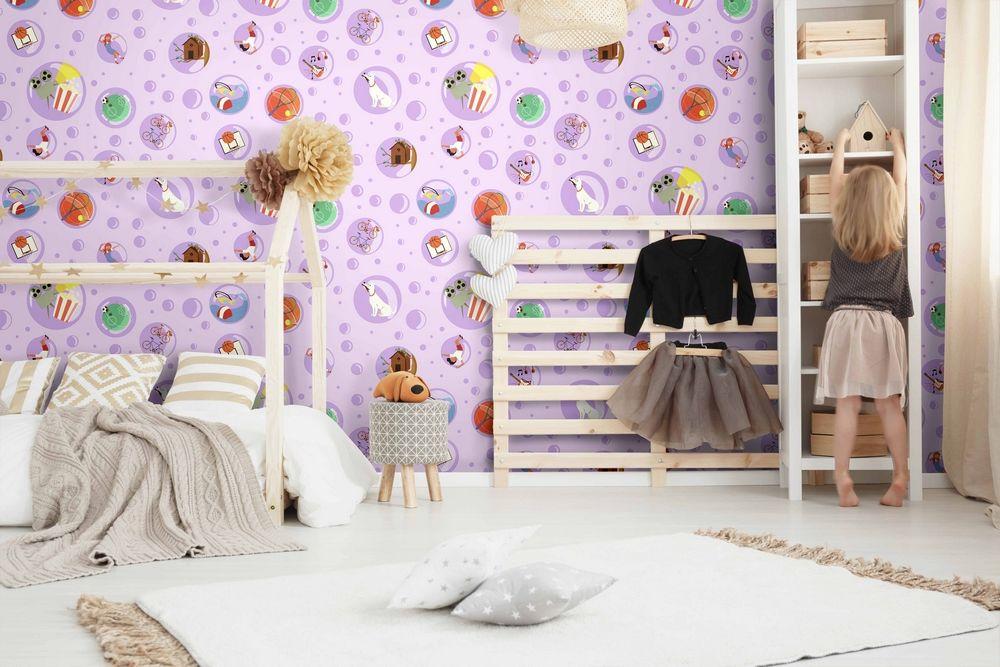 Pareti camerette decorare con amore gli spazi bimbi for Carta parati bambini