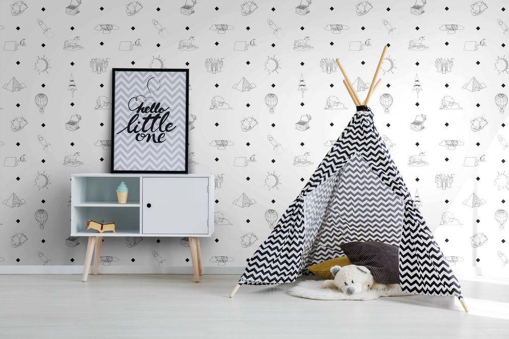 Pareti camerette decorare con amore gli spazi bimbi for Carta da parati bimbi