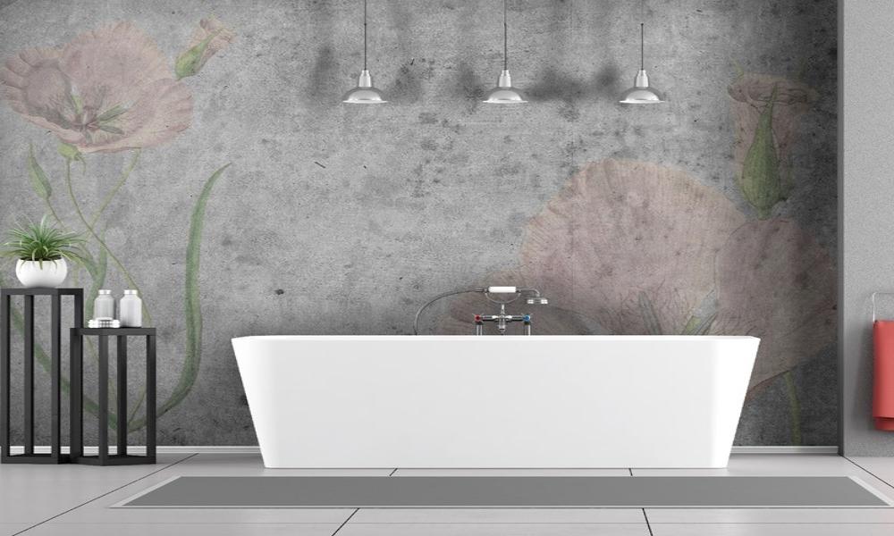 carta da parati per il bagno in fibra di vetro
