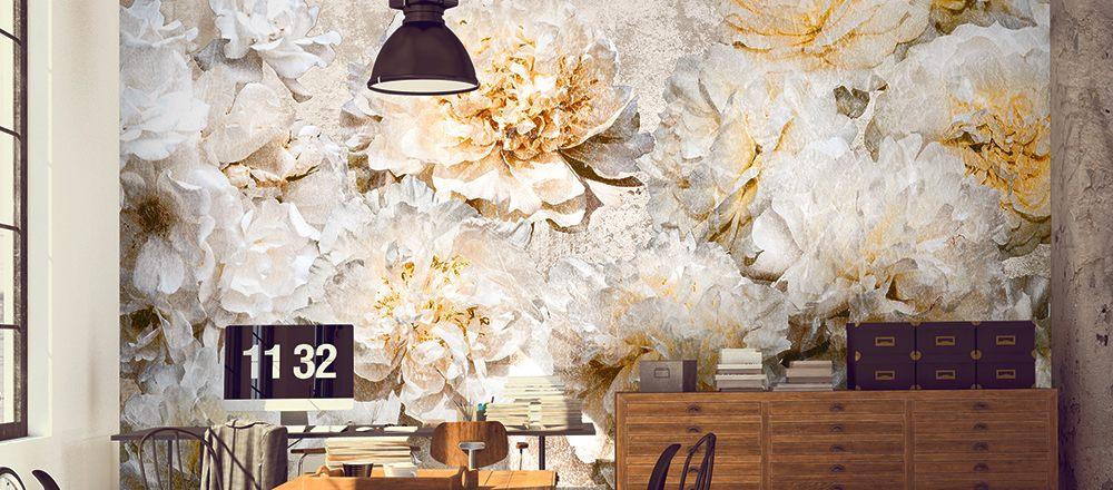carta da parati stile natura botanica fiori - Nanni Giancarlo