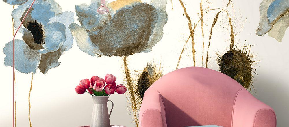 carta da parati fiori papaveri natura - Nanni Giancarlo