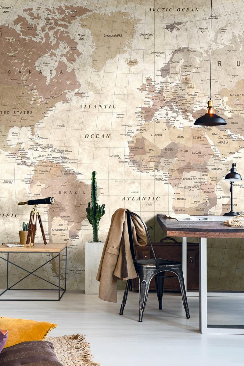 Cartina Mondo Da Parete.Mondo Worlds Carta Da Parati Mondo Cartina Geografica