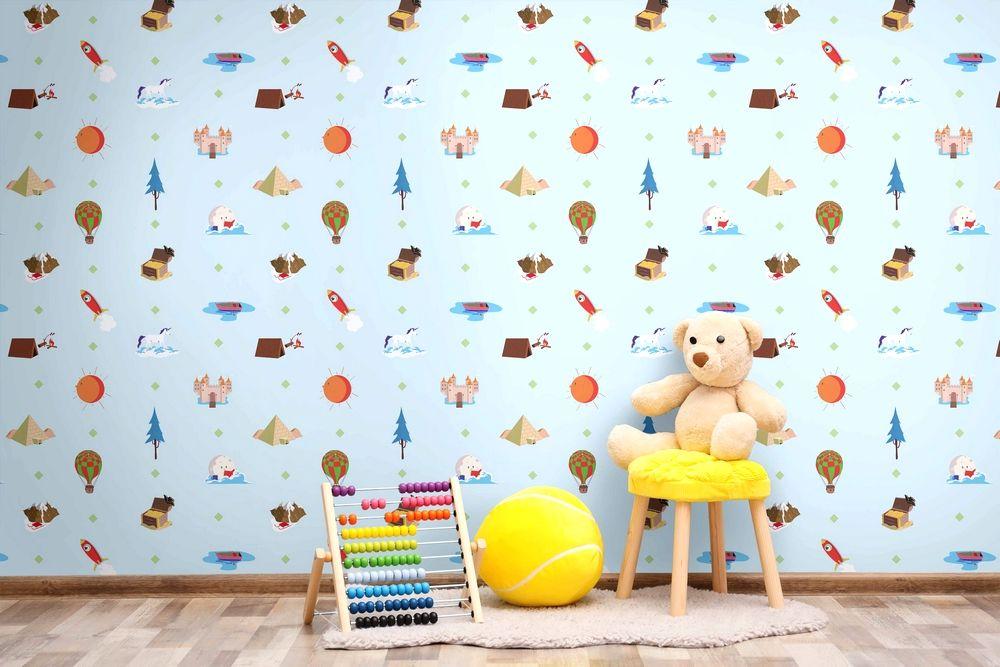 Carta Da Parati Lavabile Per Bambini.Playful Rivestimento Murale Lavabile Per Bambini