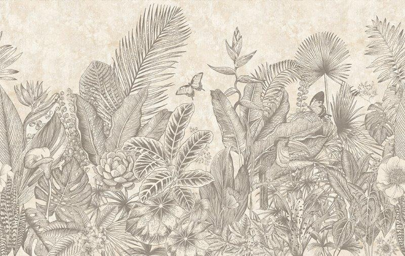 carta da parati foglie esotiche tropicale - Nanni Giancarlo