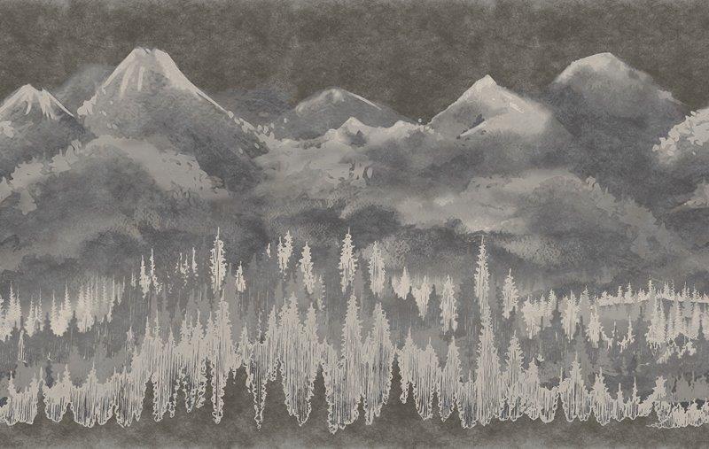 carta da parati montagne stile japan - Nanni Giancarlo