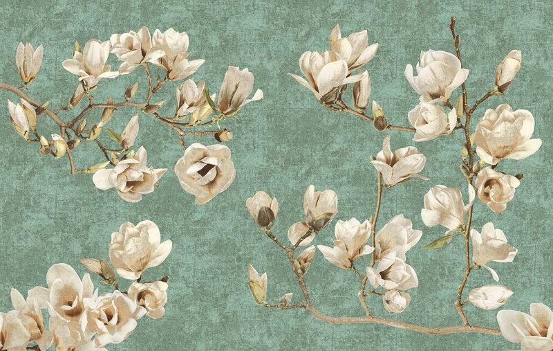 carta da parati fiori natura magnolia - Nanni Giancarlo