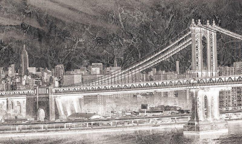 carta da parati moderna ponte brooklyn - Nanni Giancarlo
