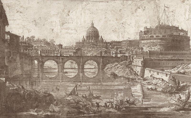 ROMA | Carta da parati geografica - Colore 4 - Nanni Giancarlo
