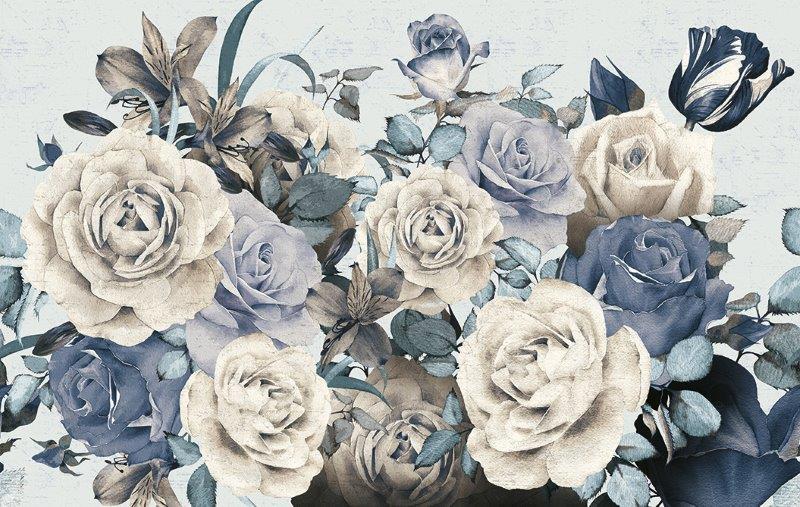 carta da parati botanica fiori romantica - Nanni Giancarlo