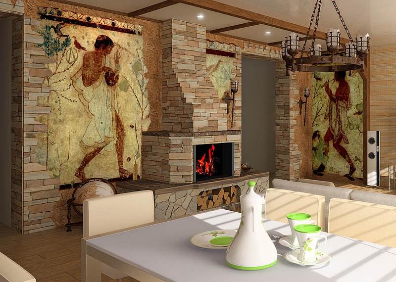 Tele dipinte per singoli progetti e d 39 arredo integrato for Tele d arredo