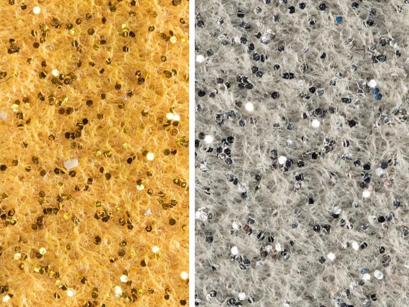 Pareti Glitter Oro : Pavimento glitter oro