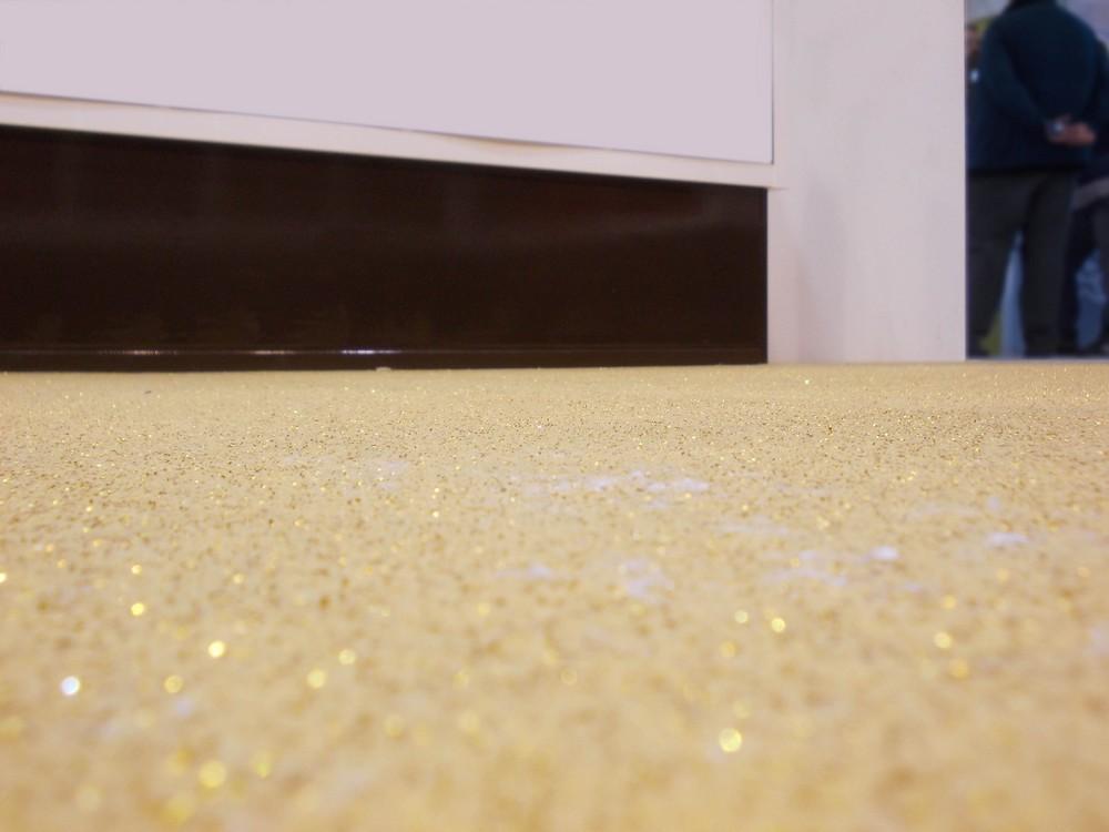 Pavimento glitter oro